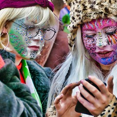 let me check it! (Bim Bom) Tags: face portrait woman girl facepainting disguise carnival carnaval maastricht netherlands limburg streetlife streetphoto