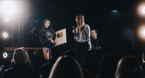 Madison Beer at Youtube Stage