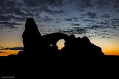 Arch Glow (David Recht) Tags: archesnationalpark utah moab unitedstates us orange sunset turret arch