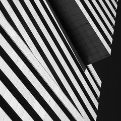 Simple Abstract 29 (No Great Hurry) Tags: thenakedabstract blackwhitesquare angular angles simpleabstract blackandwhite bnw abstract square architectureontheslant constructuralart diagonal lines geometric blacksky structure architectural robinmauricebarr nogreathurry canada toronto skylines 18200 cmwdblackandwhite perspective building creative