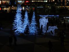 Sergels torg (Explored) (skumroffe) Tags: sergelstorg stockholm sweden christmas jul plattan trees älgar mooses moose joulua noël natale navidad explore explored