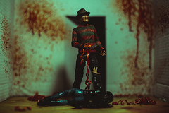Deck the Halls with Bowels of Holly (3rd-Rate Photography) Tags: freddykrueger anightmareonelmstreet dream nightmare slasher horror blood wescraven robertenglund neca toy toyphotography canon 50mm 5dmarkiii jacksonville florida 3rdratephotography earlware 365