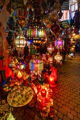 Lamp shop in Marrakesh (rtenny) Tags: marrakesh morocco art bazaar black candle celebration christmas church city decoration festival glass gold humansettlement lamp lantern light lighting market people publicspace religion religious shop stock temple travel