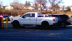 White pickup truck - HTT (Maenette1) Tags: pickuptruck white parkinglot mmplaza menominee uppermichigan happytruckthursday flicker365 allthingsmichigan absolutemichigan projectmichigan