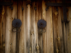 Wooden chruch door (Jonathon Bennett Photos) Tags: church door religion wood metal hinge cyprus lysos decayed abandoned