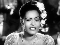 """Billie Holiday in """"New Orleans"""" (1947). (stalnakerjack) Tags: popmusic hollywood movies billieholiday blues music singers neworleans jazz"""