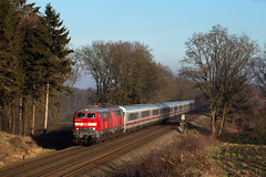 Buchholz (Dithmarschen) (Nils Wieske) Tags: schleswigholstein marschbahn dithmarschen baureihe 218 v160 db bahn eisenbahn zug züge train railway railroad intercity ic