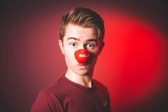 74/365 - Happy Red Nose Day! (Forty-9) Tags: canon eos6d eflens ef2470mmf28liiusm lightroom tomoskay forty9 flash studio strobist strobism yongnuo yongnuospeedliteyn560iv softbox photr project365 365 2019 3652019 project3652019 day74 74365 march 15thmarch2019 photoaday 15032019 friday rednoseday rednose happyrednoseday red selfie selfportrait