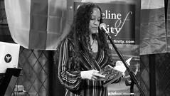 Event Horizon March 2019 02 (byronv2) Tags: woman author writer books reading literature literary sciencefiction stage portrait shorelineofinfinity eventhorizon edinburgh edimbourg scotland georgeivbridge frankensteins blackandwhite blackwhite bw monochrome