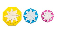 Origami 8 Point Star Decoration Tutorial - DIY - Paper Kawaii (paperkawaii) Tags: origami instructions paperkawaii papercraft diy how video youtube tutorial