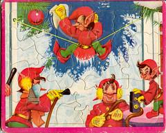Vintage Puzzle (BKHagar *Kim*) Tags: bkhagar puzzle vintage elf elves holiday whimsy whimsies