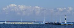 P1000391aa (oberbayer) Tags: harbor hafen meer griechenland greece leuchtturm steg peloponnese methana wasser himmel mittelmeer