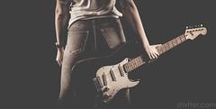 Untitled (#Weybridge Photographer) Tags: canon 5d mkii eos slr dslr adobe lightroom back guitar fender stratocaster studio portrait blackbackground