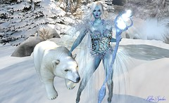 ♪♫ Snow White Queen ♫♪ (*✻ღ♪♫♥Kitten Sinclair♥♪♫ღ✻*) Tags: winter ice queen polar bear snow maitreya catwa