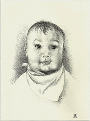 Portrait of Ryan (luis_colan) Tags: drawing fountainpen ink pen portrait baby
