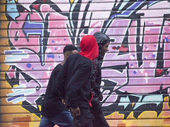 Street Art in the Rain-2 (zeevveez) Tags: זאבברקן zeevveez zeevbarkan canon people rain streetart jaffastreet