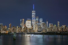 Skyline (karinavera) Tags: city longexposure night photography cityscape urban ilcea7m2 newyork manhattan newjerseyview nyc