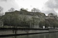 Citadelle and Sambre River, Namur, Belgium (Paul McClure DC) Tags: belgium belgique wallonia wallonie ardennes feb2018 namur namen river sambre castle architecture historic