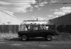 22 (Nicole~Jade) Tags: truck landscape bw blackwhite monochrome