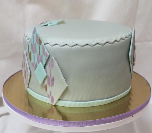 Mod Diamond Designer Cake