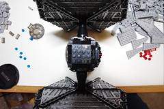 FIrst Order TIE Fighter: Rounding Pic 3 (Evrant) Tags: lego star wars tie fighter first order starfighter spaceship starship custom moc ship evrant