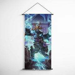 WOW - World of Warcraft 19 Thunder King Decorative Banner Flag for Gamers (gamewallart) Tags: background banner billboard blank business concept concrete design empty gallery marketing mock mockup poster template up wall vertical canvas white blue hanging clear display media sign commercial publicity board advertising space message wood texture textured material wallpaper abstract grunge pattern nobody panel structure surface textur print row ad interior