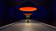 Magic Lanterns (Andrew G Robertson) Tags: munich munchen metro underground station platform westfriedhof geometry architecture design modern bavaria bahnhof u bahn