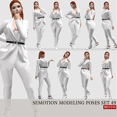 SEmotion Female Bento Modeling poses set 49 (Marie Sims) Tags: semotion ao animations animation avatar anim animaitons animaions animated aohud animarions event 3d expression emotion expressions release rigged trendy trend yummy guys unisex hud fun funny inworld girly pose poses posing photographer photosl photo ptoho hq sl secondlife stands slfashion slavatar female fashion fancy feelings gift girl kawaii mocap modeling model mood woman bento new