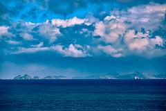 Philipsburg, Sint Maarten from afar (Ennev) Tags: clouds island caribbean k3 pentax pentaxk3ii sea k3ii ocean sky sintmaarten sx