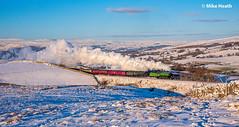 61306 + 35018 - Cumbrian Mountain Express - 2 February 2019 (6 of 6) (Mike Heath Photo) Tags: west coast railway company wcrc cme cumbrian mountain express lner london north eastern thompson class b1 61306 1306 sr southern region merchant navy 35018 british india line steam train locomotive railtour sun snow birkett common