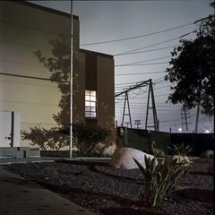 Night at the power station (ADMurr) Tags: la eastside dwp hasselblad 500cm 50mm distagon zeiss fuji pro 400 mf 6x6 film analog dba614edit fullframe