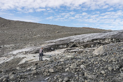 Crossing the Sodalen Gletscher (apcmitch) Tags: mountains glaciers greenland moraine eastgreenland2014 extreme dolphin