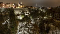 Depuis le pont Adolphe (joannab_photos) Tags: deep grund fortifications vauban luxembourg bridge lights night