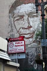 Oh My , He Thinks !  By Vhils (Joey Z1) Tags: ohmyhethinks mural streetartwithastatement downtownlosangeles dtla urbanart lastreetart joesparking urbanscene streetart urbandecay polychromatic pentaxks1 bylaphotolaureatejoeyzanotti artbyvhils streetartistvhils
