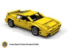 Lotus Esprit Turbo (Project X180) (lego911) Tags: lotus esprit turbo x180 1987 coupe gb british uk peter stevens auto car moc model miniland lego lego911 ldd render cad povray afol midengine 1980s supercar sportscar foitsop