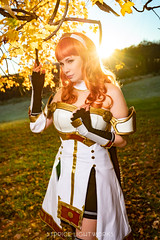 Celica (S1Price Lightworks) Tags: celica fire emblem cosplay video game cosplayer girl meadow fall autumn sun sunflare maryland beauty canon eos r foliage sunray