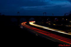 Castlecary Arches (red.richard) Tags: light trails bridge castlcary arches road cars headlights taillights night