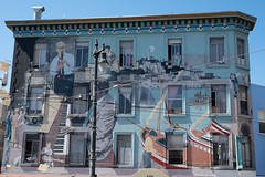 Playtime (Dominic Sagar) Tags: amy arlen felsen friends sanfrancisco building jazz mural california unitedstates us