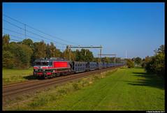 Captrain 1618, Wierden 15-10-2017 (Henk Zwoferink) Tags: wierden overijssel nederland nl captrain rfo rail force one henk zwoferink raillogix 1618 alstom alsthom 1600