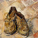 Shoes (1888) by Vincent Van Gogh. Original from the MET Museum. Digitally enhanced by rawpixel.