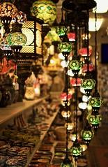 Turkish Lamps [Explored] (elektron9) Tags: ca california cali westcoast pacific monterey montereyca lamps turkish decorations decor istanbul canneryrow tourism tourist lighting interior interiordesign hanging chain artistic art cool metal glass stainedglass patterns pattern geometric bulb shelves bokeh explored explore flickrexplore mosaiclamp mosaic chandeliers