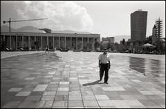 img1004a (ktos.2) Tags: olympus mju agfa apx 100 film analog bw 135 albania tirana skanderbeg square summer hitchhiking