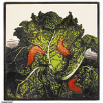 Three slugs on a cabbage by JJulie de Graag (1877-1924). Original from the Rijks Museum. Digitally enhanced by rawpixel. thumbnail