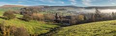 Laneside Farm panorama (Maria-H) Tags: mist hills pennines glossop highpeak peakdistrict derbyshire uk olympus omdem1markii panasonic 1235