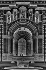 Entrance of the Speyer Dom. (wimjee) Tags: nikond7200 d7200 speyer duitsland germany dom kerk church 1855mmf3556gvr zwartwit monochrome blackwhite silverefexpro2 niksoftware gimp inverted