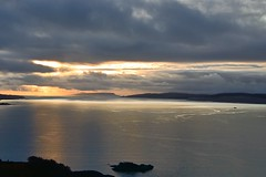 Sound of Sleat, Scotland (vincocamm) Tags: water sunset sea coast coastline loch soundofsleat evening moody dusk glenelg arnisdale lochhourn eigg island skye isleofskye nikon d5500 clouds cloudy winter december landscape orange blue