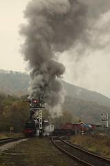 Smoking (feroequineologist) Tags: 5428 erictracey railway train steam levisham levishamstation nymr northyorkshiremoorsrailway black5