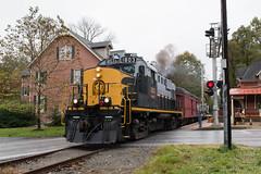 Departing Glen Mills (Dan A. Davis) Tags: westchesterrailroad wcrl westchester rs18u locomotive train passengertrain railroad pa pennsylvania