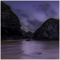 bedruthan rocks (jim.mcbride) Tags: rocks beach sunset nikon tamron seaside tide purple evening adventure cornwall england cliffs
