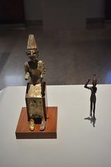 Chicago, IL - University of Chicago - Oriental Institute - Megiddo Gallery - Statues of El and Baal (jrozwado) Tags: northamerica usa illinois chicago universityofchicago university museum orientalinstitute middleeast neareast history archaeology megiddo statue statuette el baal canaanite